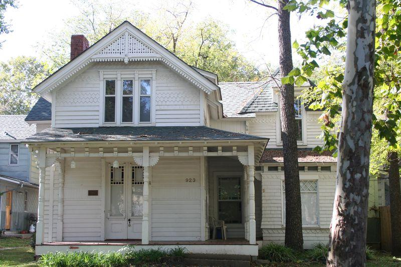 Photo of east elevation of Benedict House in 2008 (Kansas Historical Society, Kansas Historic Resources Inventory)